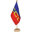 15 x 22.5 cm flag wooden pole and base, 37 cm height