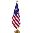 18 x 24 cm flag, 75D polyester, high quality titanium gold plating metal pole & base 42.5 cm