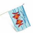Stick Flag, Digital Printing with Vivid Picture and Bright Color