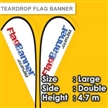 Teardrop Flag Banner Large Size Medium Size Small Size Double Side