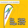 Teardrop Flag Banner Large Size Medium Size Small Size Single Side
