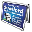 A Frame Pro Outdoor Promotional Banner Display Kit