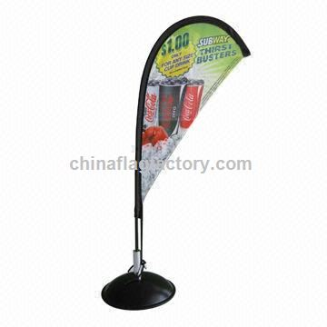 Advertising Display Tabletop Desktop Mini Flying Flag Banner Stand, Weighs 105g