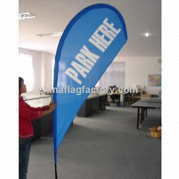 Advertising Display Flag Banner with Water Bag Base