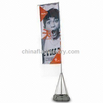 Advertising Square Flag Banner with Heat Transfer and Digital Printing