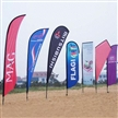 Advertising display flag for promotion and tradeshow, high quality heat sublimation printing,durable