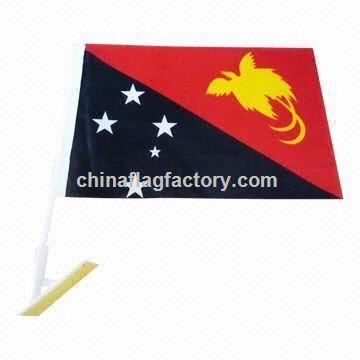Car Flag, Available with Silkscreen, Heat-transfer and Sublimation Printing